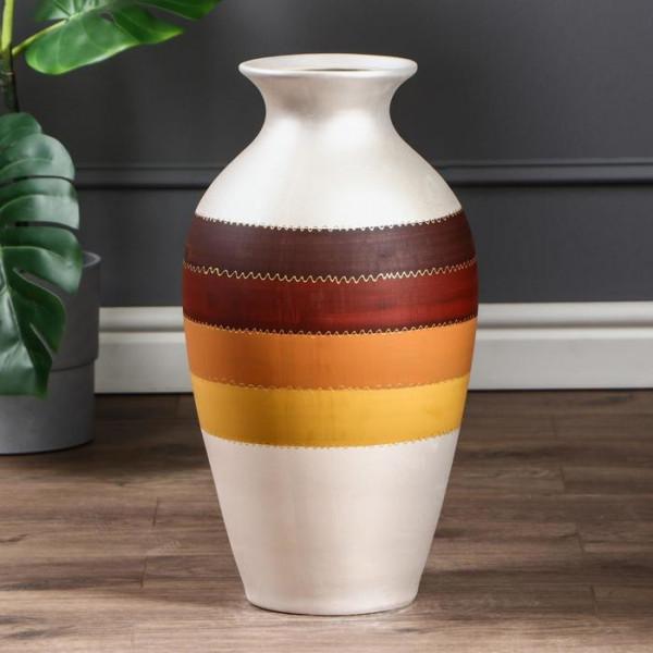ваза напольн. 50см КЛАССИКА полоса беж. ( 1 )