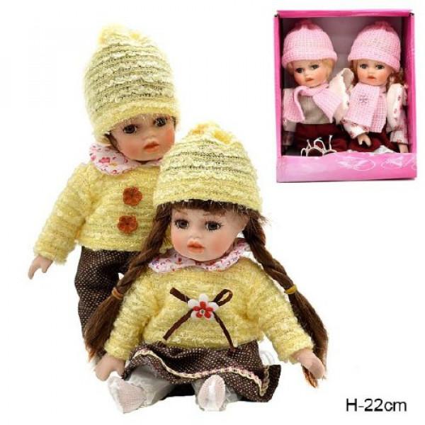 кукла коллекционня 616658 Н=22см (наб.2шт), /8002/( 1046 )