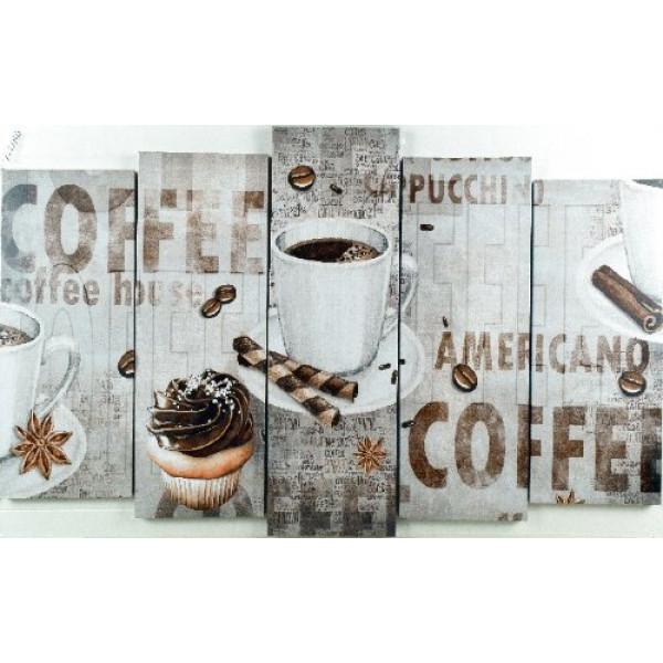 картина модульная 125*80/5 V-2040 кофе( 1079 )
