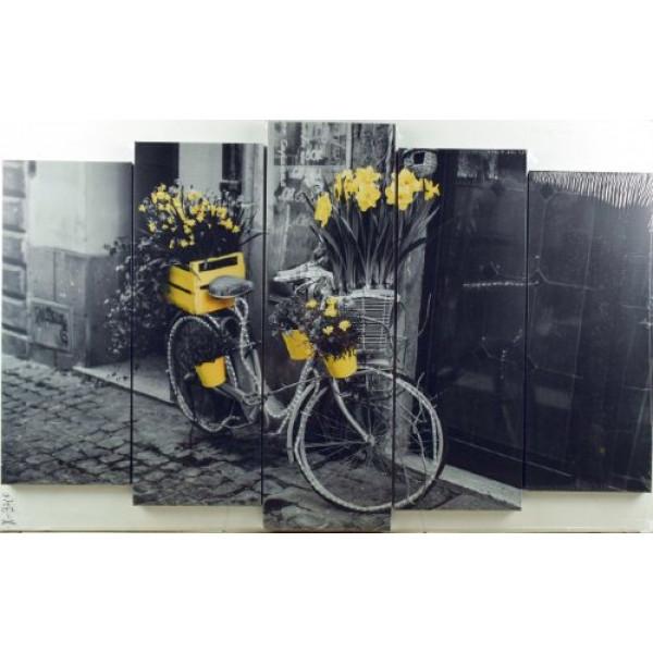 картина модульная 125*80/5 Х-340 велосипед( 1110 )