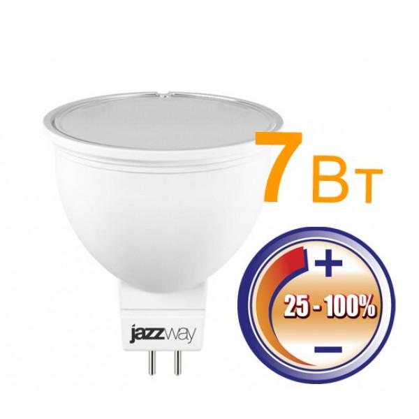 лампа LED JazzWay диммир. 7W GU5.3 JCDR 3000К 500Лм( 112 )