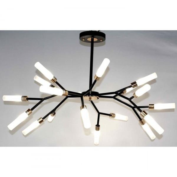 люстра 367YG/18 BK+GD LOFT Veneto Luce (лампы в комп.)( 116 )