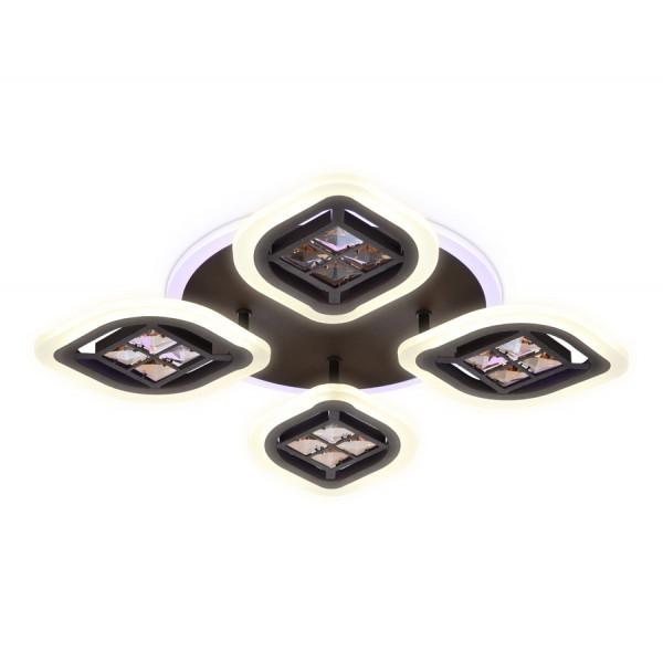 светил LED Ambrella ACRYLICA FA281/4 69W 530*530*80 CF/TI кофе/янт (ПДУ)( 1200 )