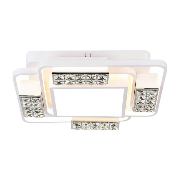 светил LED Ambrella ACRYLICA FA144 96W 500*500*110 WH белый (ПДУ)( 1204 )
