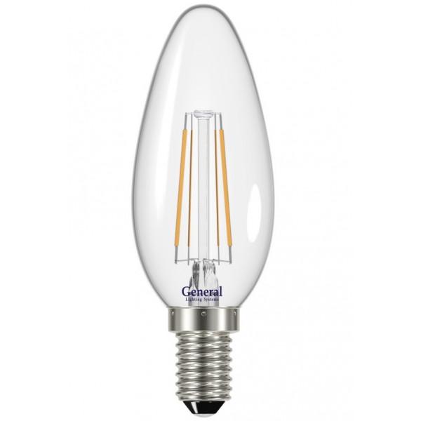 лампа LED GENERAL 8-CS-6500-E14 75W* 230V свеча филамент 649973( 1232 )