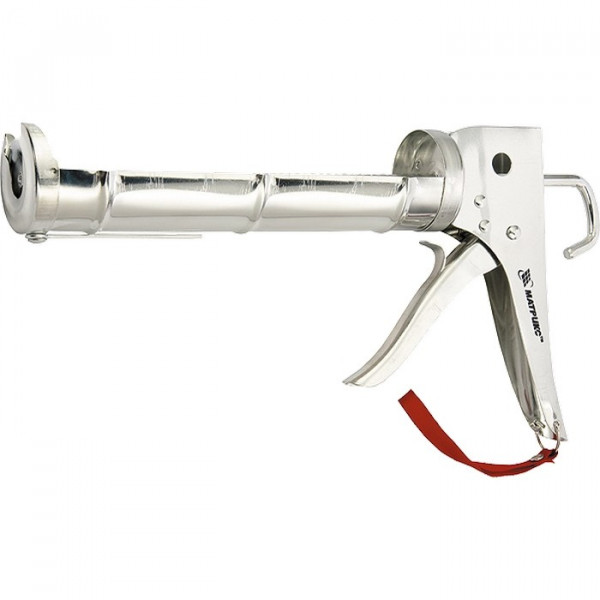 пистолет д/герметика MATRIX 310мл хромир., зубчатый шток 7мм  88640( 147 )