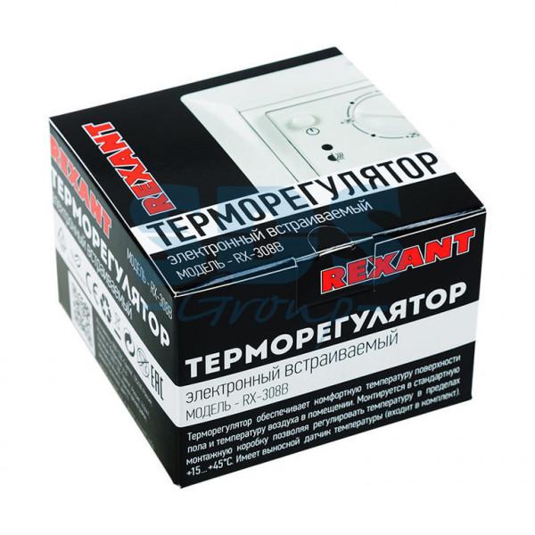 терморегулятор REXANT RX-308В мех. бел 51-0562( 1488 )