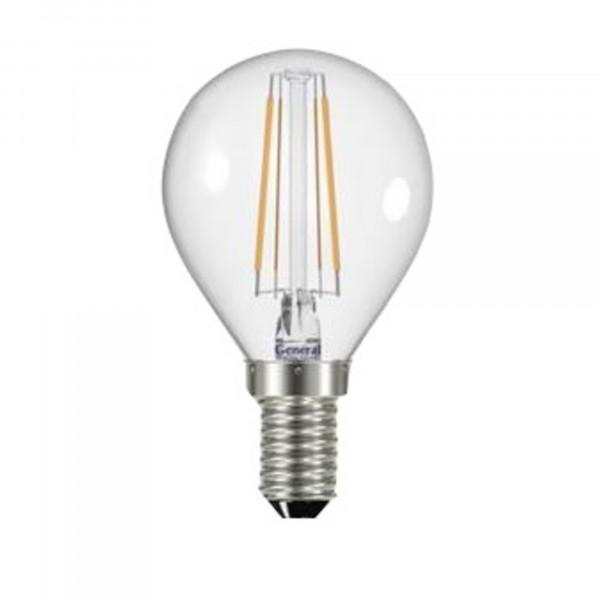 лампа LED GENERAL 7-G45S-2700-E14 75W 230V шарик филамент 647800*( 1608 )