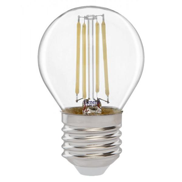 лампа LED GENERAL 7-G45S-2700-E27 75W 230V шарик филамент 648000*( 1610 )