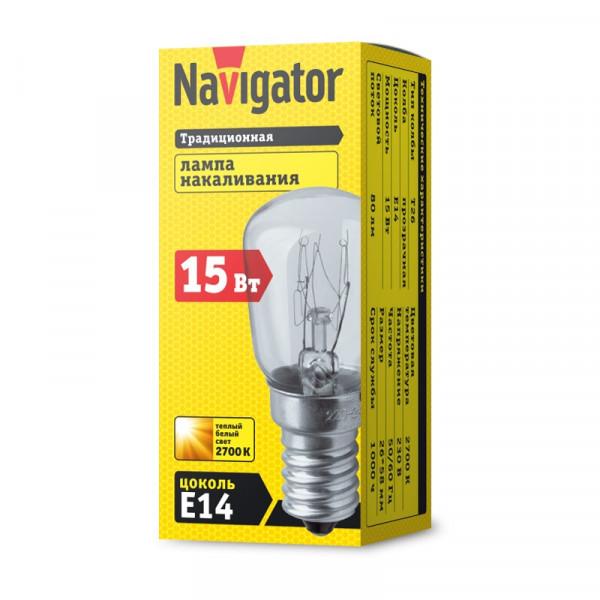 лампа Navigator РН 15вт 230в Е14 T25 CL для духовых шкафов ( 1767 )