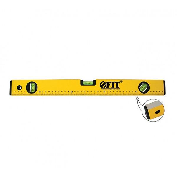 уровень FIT 1500мм усиленный,желтый (3 глазка)(18215)*( 1843 )