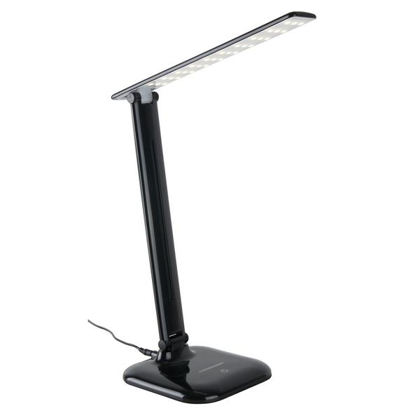 лампа наст LED L90200 Alcor 9W  EL-ST черный*( 196 )