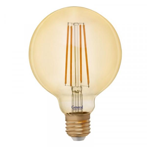 лампа LED GENERAL 10-G 95S-2700-E27 230V филамент золото 655308*( 2175 )