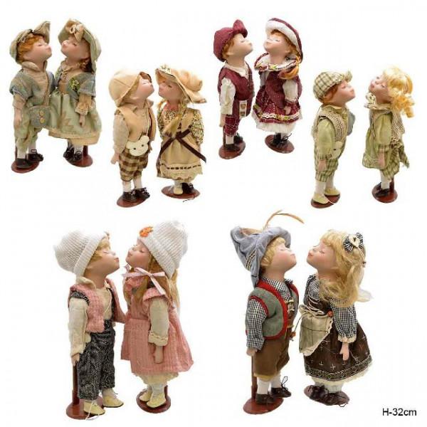 кукла коллекционня 644614 Н=32см (1215) набор 2шт.( 2286 )