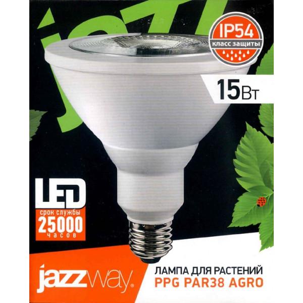 лампа LED JazzWay д/растен 15W PAR38 E27 IP54 PPG Agro *( 2354 )
