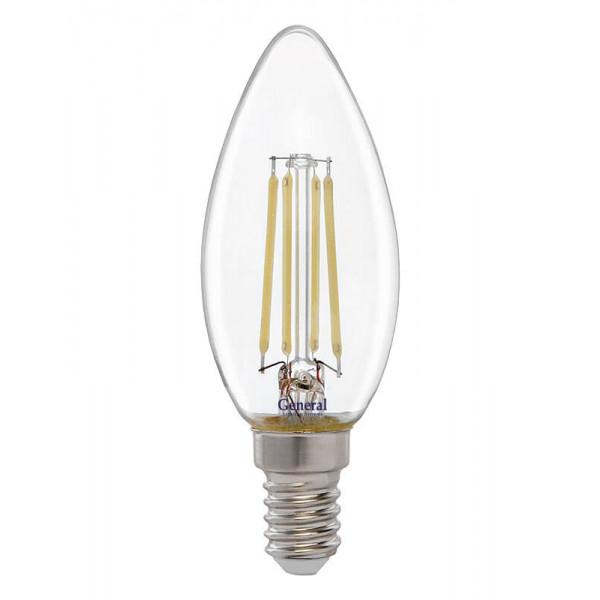 лампа LED GENERAL 7-CS-6500-E14 75W 230V свеча филамент 649700*( 2373 )