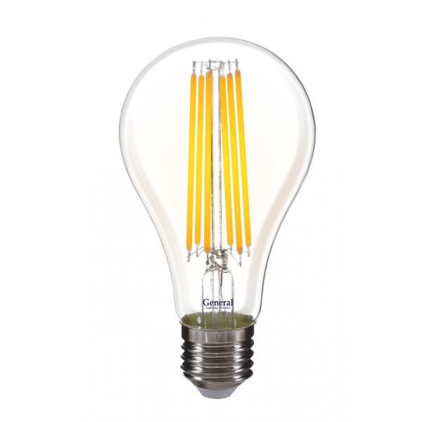 лампа LED GENERAL 10-A60S-6500-E27 230V филамент 649300( 2387 )