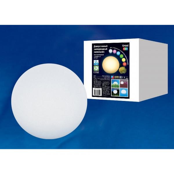 светил декор LED UNIEL ULG-R001 020/RGB ф20 аккум IP65 BALL( 2398 )