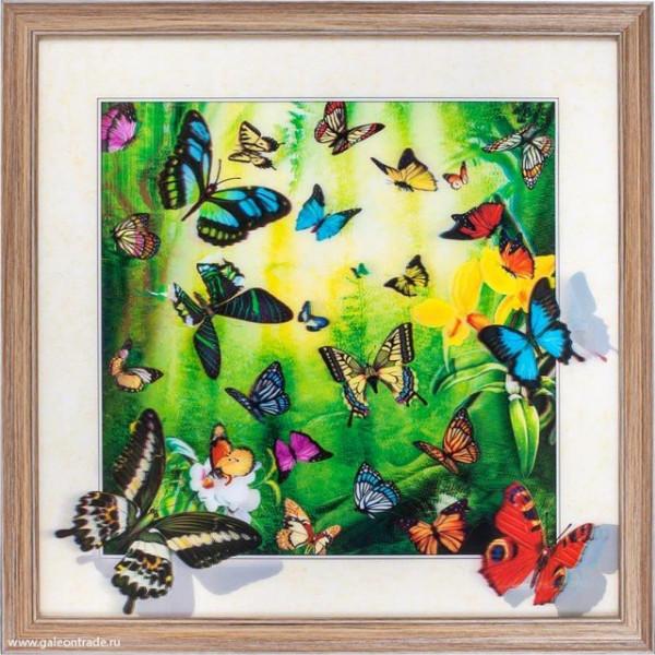картина 5D 623336 40х40 035 Бабочки( 2663 )