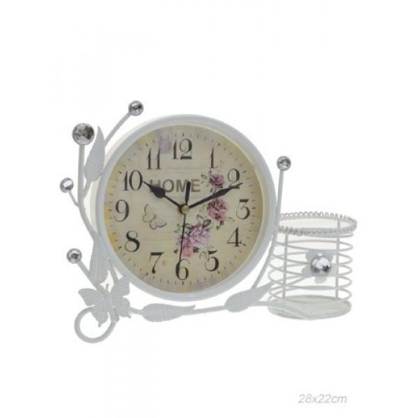 часы настольн. 139841 28х22см L=24см /MT1026-1/( 3013 )