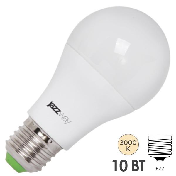 лампа LED JazzWay диммир.10W Е27 A60 3000К 810Лм( 3163 )