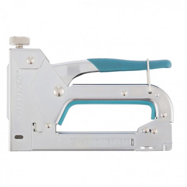 степлер GROSS мебельный регулир. стальной корпус, скоба 53, 4-14мм  41000( 3173 )
