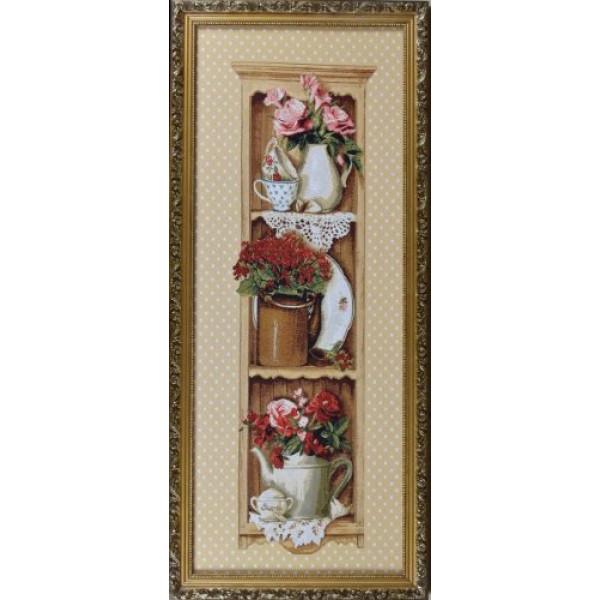 картина гобелен Дачная этажерка ЕВРО (90*36) Г/Т, К4( 349 )