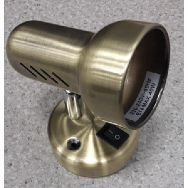 подсветка HN6003-1K E14 R&C с выкл латунь( 3629 )
