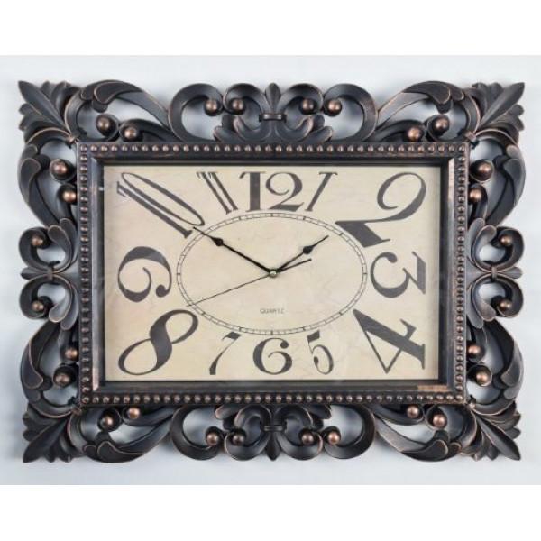 часы настен. 2850-01А-XYM (61*46,3*5,3см) черный( 379 )