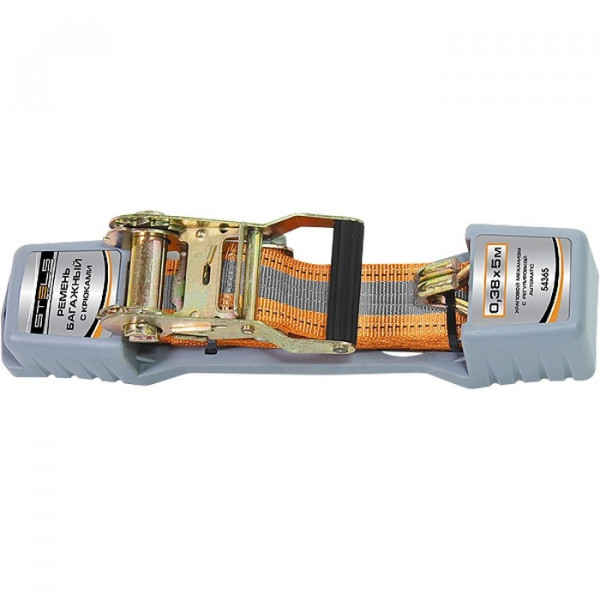 ремень багажный с крюками 0,038х5м храповый механизм STELS 54365( 4110 )