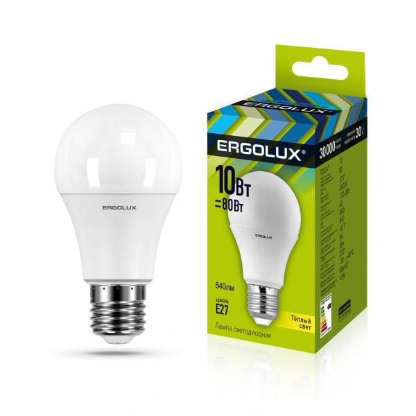 лампа LED ERGOLUX A60-10W-E27-3K 80Вт 12148( 4391 )