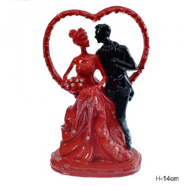 статуэтка 628230 Пара/сердце, H=14см, /Т937/( 479 )