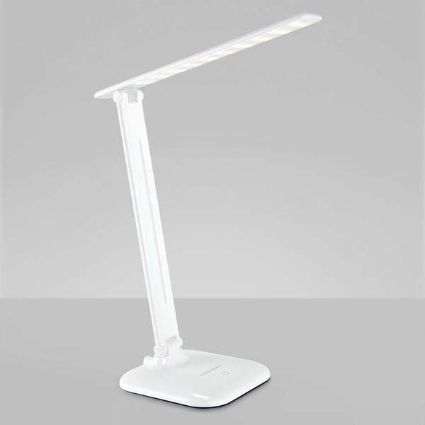 лампа наст LED L90200 Alcor 9W  EL-ST белый*( 5059 )