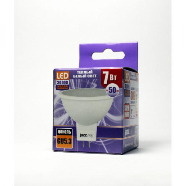 лампа LED JazzWay 7W GU10 3000К 520Лм( 5078 )