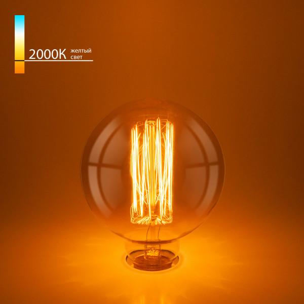 лампа накал EL-ST 60W E27 G95 Эдиссона ( 5258 )