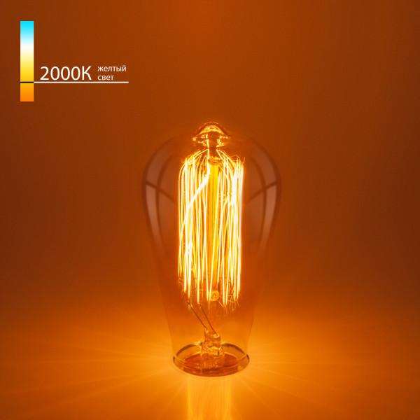лампа накал EL-ST 60W E27 ST64 Эдиссона( 5260 )