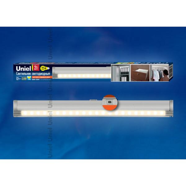 светил LED UNIEL ULE-F02- 4.5W/NW/OS 4500 IP20 сереб с/датч открыв двери( 535 )
