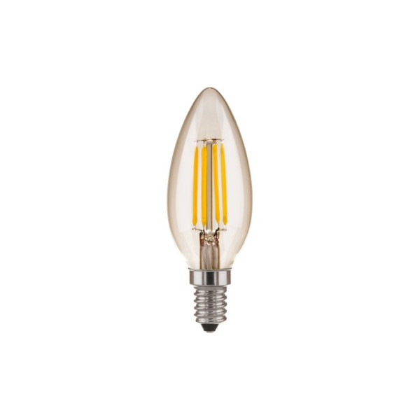 лампа LED EL-ST 5W CD Е14 4200K свеча на ветру филамент (нити)*( 542 )