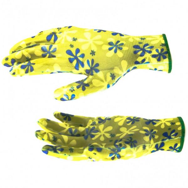 перчатки PALISAD садовые с нитрил. обливом М  67742( 5465 )
