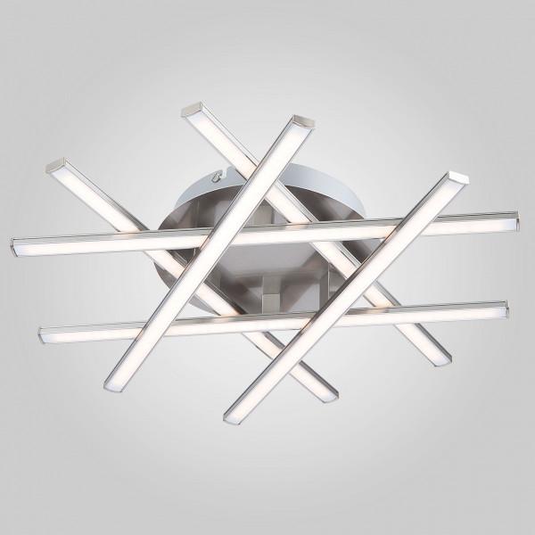 люстра LED 90021/6 сатин-ник 27W МЕГАПОЛИС( 5613 )