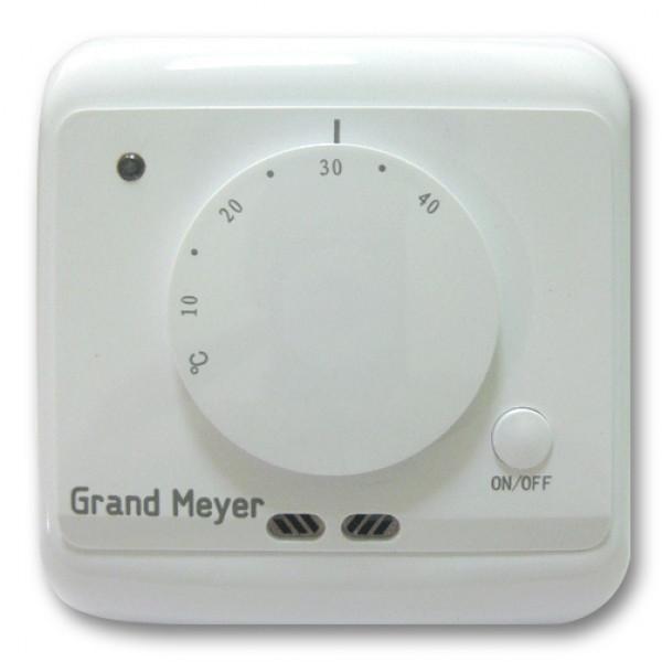 терморегулятор Grand Meyer MST-2 (механич) датчик пола,возд. белый( 6059 )