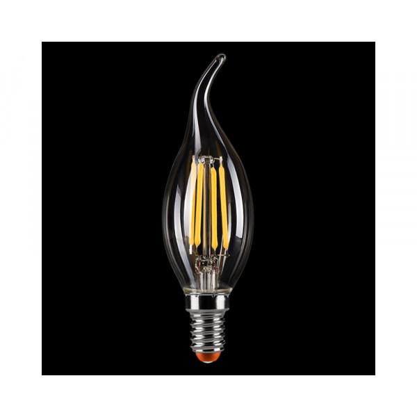 лампа LED EL-ST 4W SMD E14 6500K свеча на ветру*( 6267 )