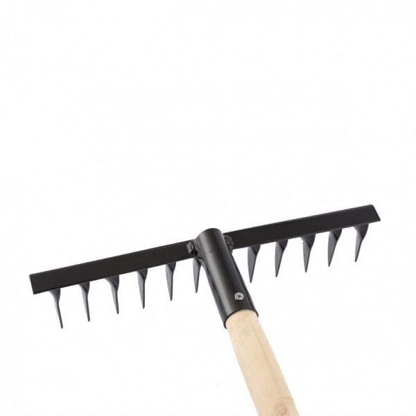 грабли 12-зуб 300мм с/черенком витые СИБРТЕХ  61744( 6313 )