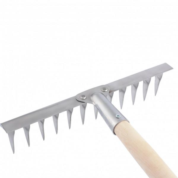 грабли 12-зуб 290мм с/черенком витые нерж. сталь СИБРТЕХ  61754( 6334 )