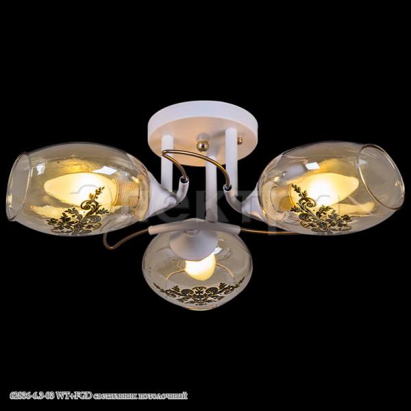 люстра 62836-6.3-03 WT+FGD золото Reluce( 637 )