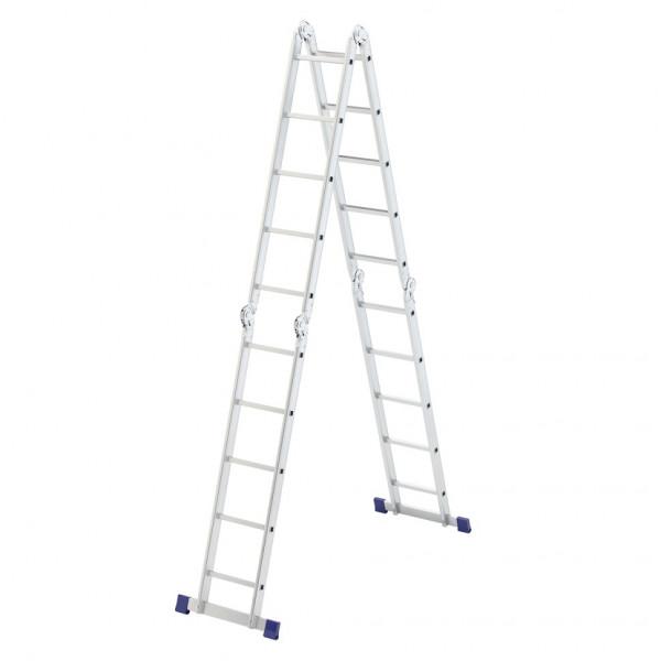 лестница СИБРТЕХ 4х5 ступ. алюм шарнирн  97883*( 6373 )