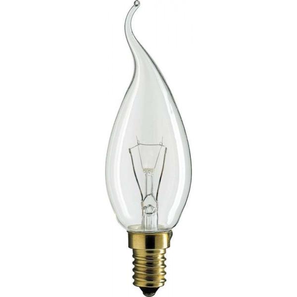 лампа ДС Е14 40W PHILIPS _свеча на ветру_ *( 653 )