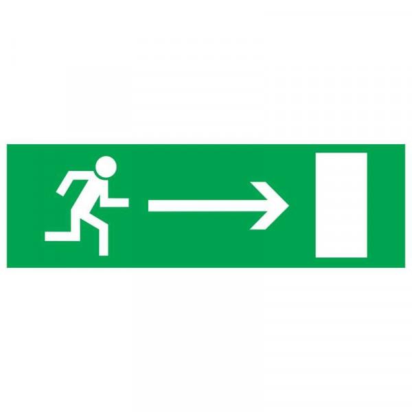 знак эвакуационный _Эвакуационный выход направо_ 100х300мм Rexant 56-0027( 6882 )