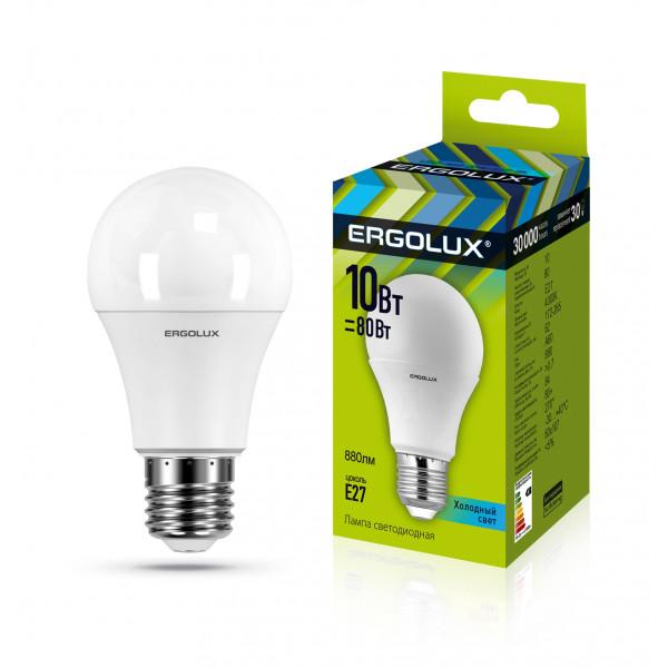лампа LED ERGOLUX A60-10W-E27-4K 80Вт 12149( 6917 )