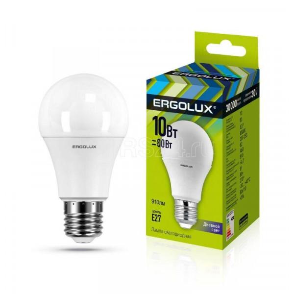 лампа LED ERGOLUX A60-10W-E27-6K 80Вт 12879( 6919 )